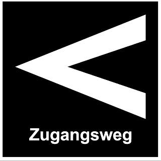 Markierungszeichen des Zugangsweges