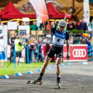 Johannes Rydzek beim Night Race Oberstdorf 2016