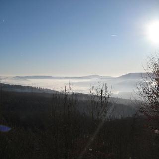 Blick vom Wanderweg am Winterberg