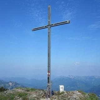 Das Gipfelkreuz der Halserspitze.