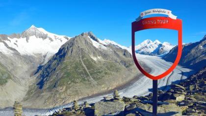 Fotospot auf dem Eggishorn mit Sicht auf den Aletschgletscher