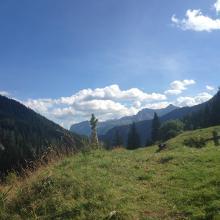 Blick Richtung Engadiner Dolomiten