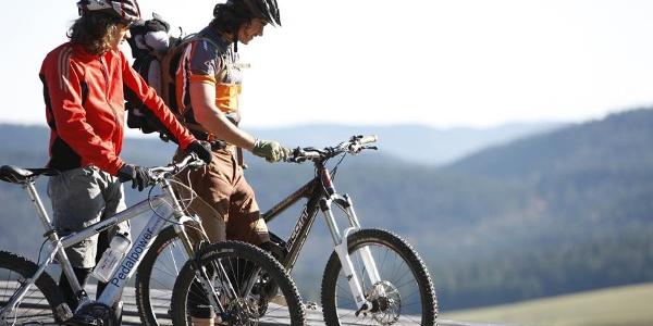 Mountainbiker im Schwarzwald