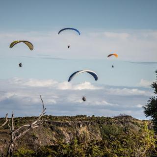 Paragliding at Pic du Maido