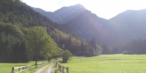 Start der Tour im Valle dei Concei Richtung Val Sorda