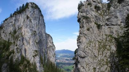 Klettersteig Tegelberg : Tegelbergbahn sommer