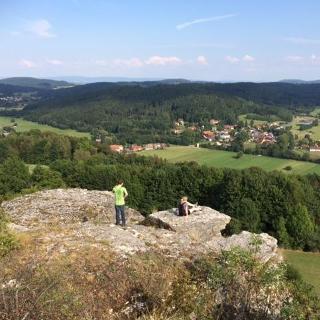 Blick vom Wachsteinnach Mengersdorf