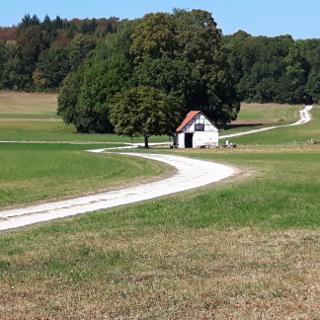 Schutzhütte mit Grillstelle nahe dem Rutschenfelsen