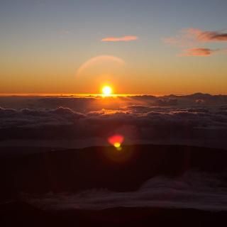 Sonnenaufgang vom Piton des Neiges
