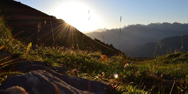 Sonnenaufgang auf dem Weg zum Hohen Ifen