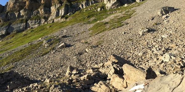Steiniger Aufstieg zum Plateau