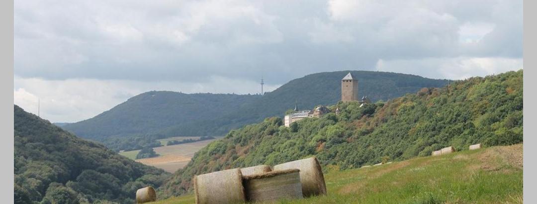 Burg Lichtenberg von der Höhe über Ruthweiler