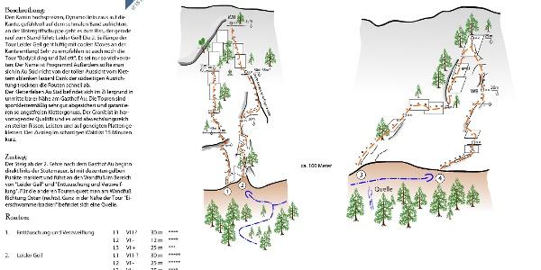 Au Süd - Topo - Kletterfels im Zillergründl (Zillertal)