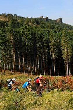 Ein markanter Punkt im Verlaufe der Tour: Die Bruchhauser Steine