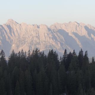 Kaisergebirge vom Straubinger Haus nach Sonnenaufgang