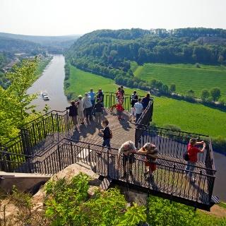 schöne Ausicht vom Weser-Skywalk