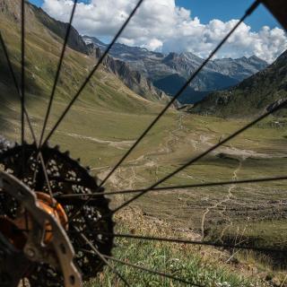 Blick vom Griespass Richtung Italien