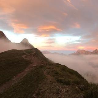 Sonnenaufgang an der Rappensee Hütte