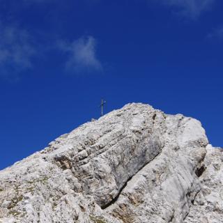Der Gipfel der Pleisenspitze ist fast erreicht