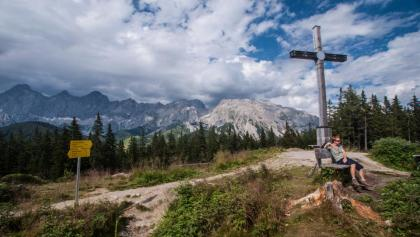 The mighty cross on the summit of Rittisberg