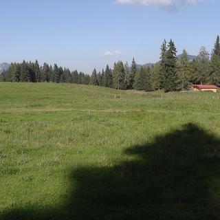 Panoramaaufnahme Hemmersuppenalm (Rückblick)