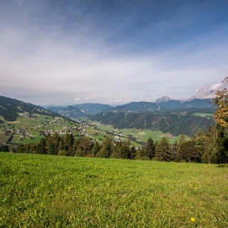 Aussicht vom Erzweg unterhalb vom Berggasthof Jager