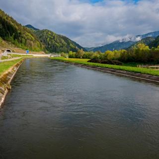Über die Mur (Kanal) bei Mixnitz