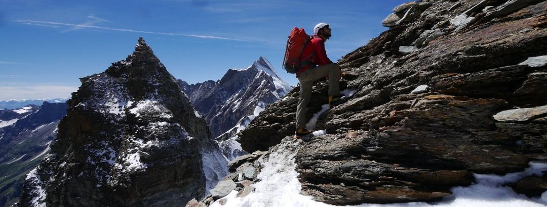 מטפס הרים באלפים