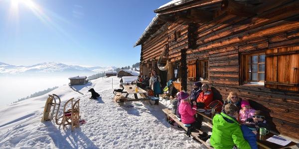 Die Bodähütte liegt an sonniger und aussichtsreicher Lage