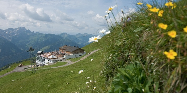 Bergstation Diedamskopf mit Panoramarestaurant