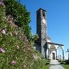 Die aussichtsreich gelegene Kirche San Giulio in Comnago.