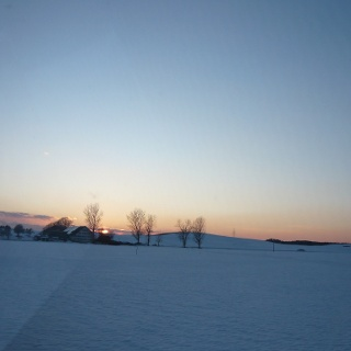 Sonnenuntergang über der Fetzachmoosloipe (2)