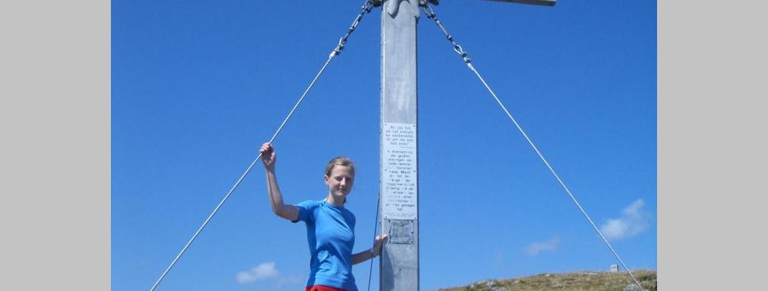Gipfelkreuz auf dem Oisternig-Ostgipfel