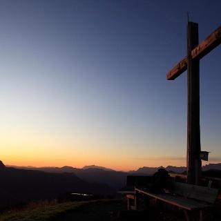 Sonnenuntergang am Kreuzkogel