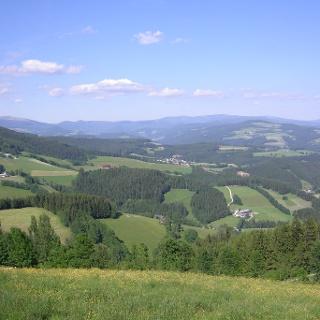 Panorama der Fischbacher Alpen