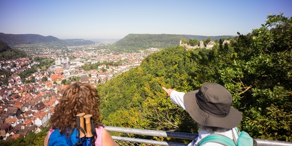 Ausblick von der Aussichtsplattform am Ödenturm