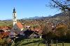 Blick auf die Pfarrkirche St. Nikolaus vom Hörnle - @ Autor: Julian Knacker - © Quelle: Pfronten Tourismus