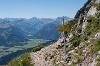 Blick ins Tannheimer Tal vom Aggenstein - @ Autor: Julian Knacker - © Quelle: Pfronten Tourismus