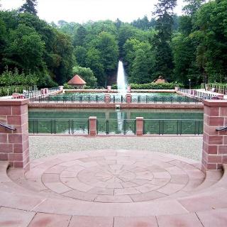 Freitreppe am barocken Gartendenkmal