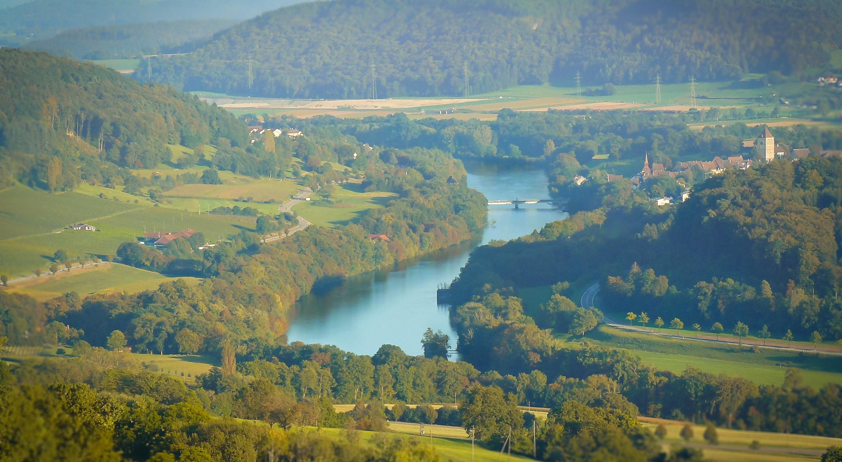 Blick vom Rügihau auf den Rhein