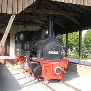 Die alte Dampflokomotive 997202