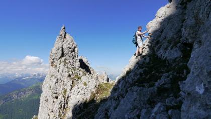 Während des Aufstiegs wartet bereits eine atemberaubende Aussicht.