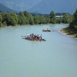 Das Floßen - heute wie früher ein Abenteuer.
