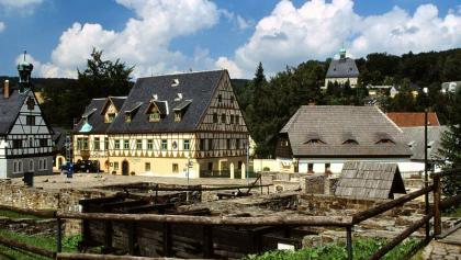 Olbernhau Saigerhütte und Kirche Oberneuschönberg