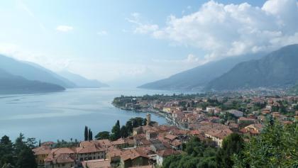 Il panorama spettacolare sul lago di Como