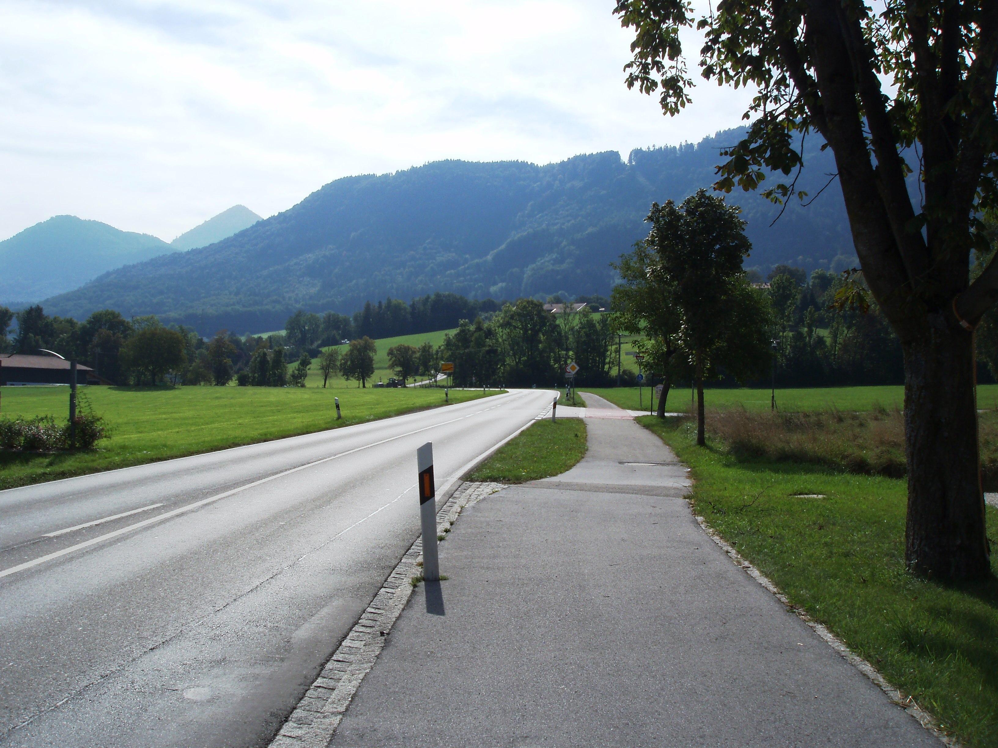 Radweg nach Grassau