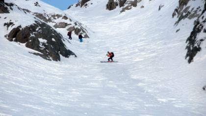 Abfahrt zum Glacier de la Floria