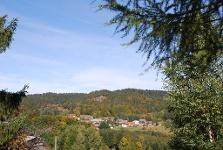 Blick auf Wittenschwand und Kreuzfelsn von der Dachsberg-Halle aus