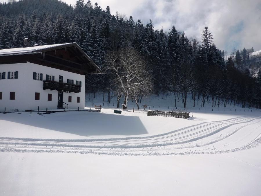 Loipe am Anwesen Aigen-©Quelle: Gemeinde Bernau a. Chiemsee