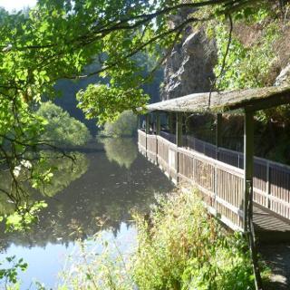 Steg an der Saale bei Hirschberg